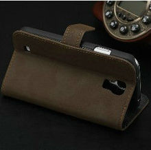 stand leather case for galaxy s4 mobile phone flip cover for sumsang i9500 kickstand leather case for samsung galaxy s4 i9500