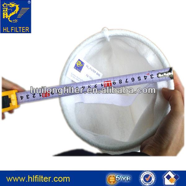 needle felt stainless steel ring U bottom size 1welded filter bag eaton filter bags
