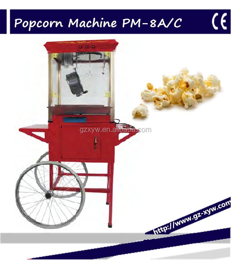 8 Ounce Caramel/Popcorn Machine with Cart for snack food