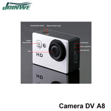 New A8 Hd Mini Cam Sport Dv Video Cam Waterproof 30m Sports Dv with wide-angle lens