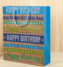 customised paper bag for birthday gift packaging