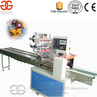 Bread/chocolate/biscuits/egg yolk pie/lollipops/moon cake Pillow Type Packing Machine for Sale