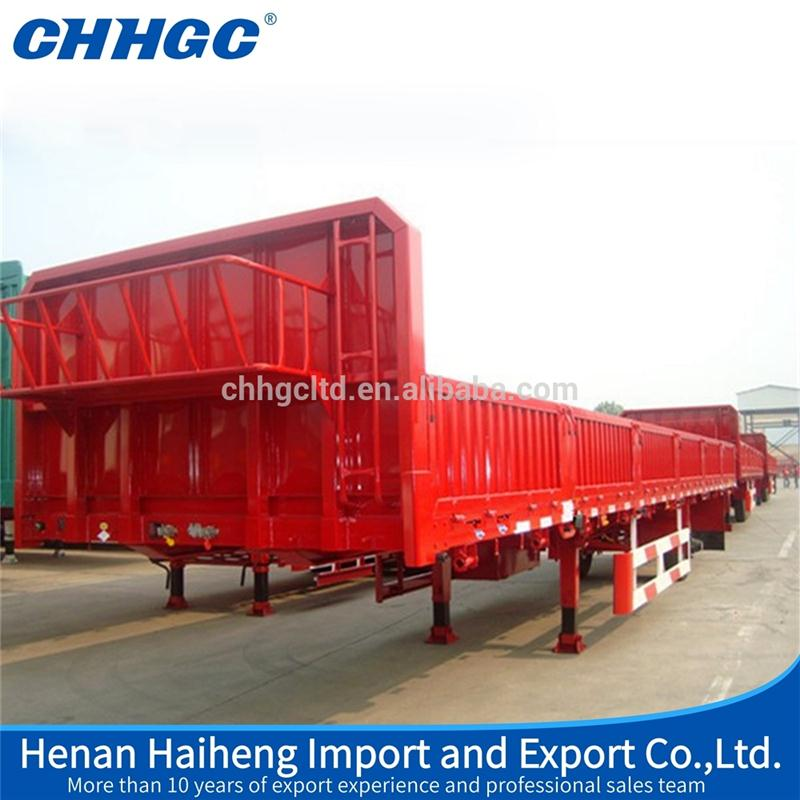 New design china well-known side wall semi trailer with high quality