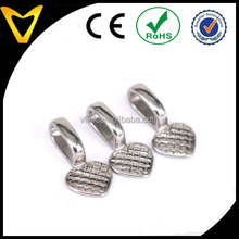 Stainless Steel Glue-on Flat Heart Pad Bails for Jewelry Making