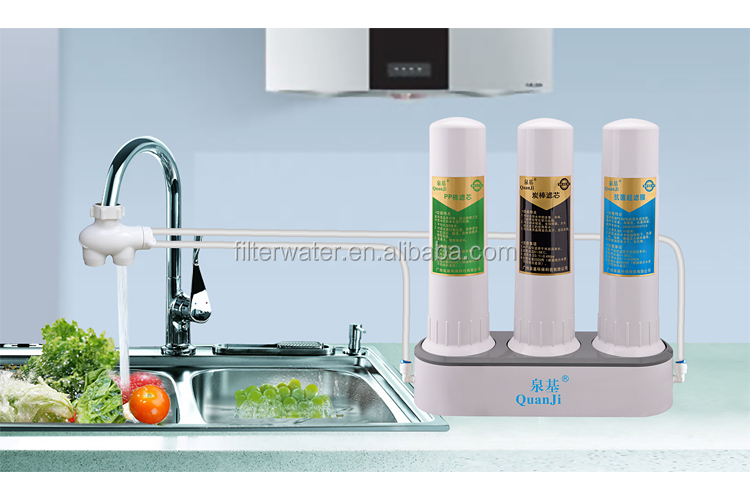 Portable Counter top three stage Ceramic Water Filter PP +Actived Carbon +UF Water Filter