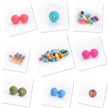 2016 New Color Marble Grey Color Silicone Teething Beads Silicone Teether Beads