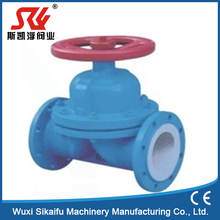 weir/ straight-way rubber lined diaphragm valve