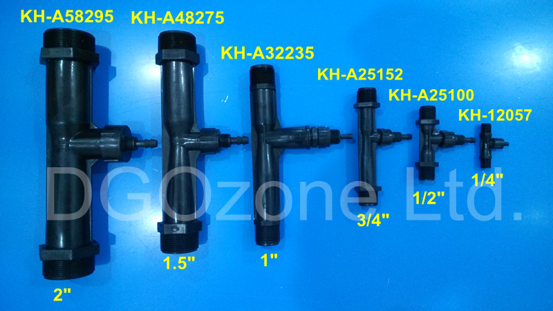"1"" PVDF venturi tube, ozone and water mixer (KH-A32235)"