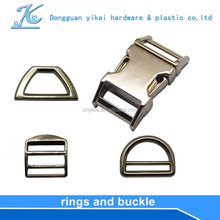 Yikai Metal D Ring and square ring Wire Clips for Garment/Shoes/Bags/Belts/Scarf