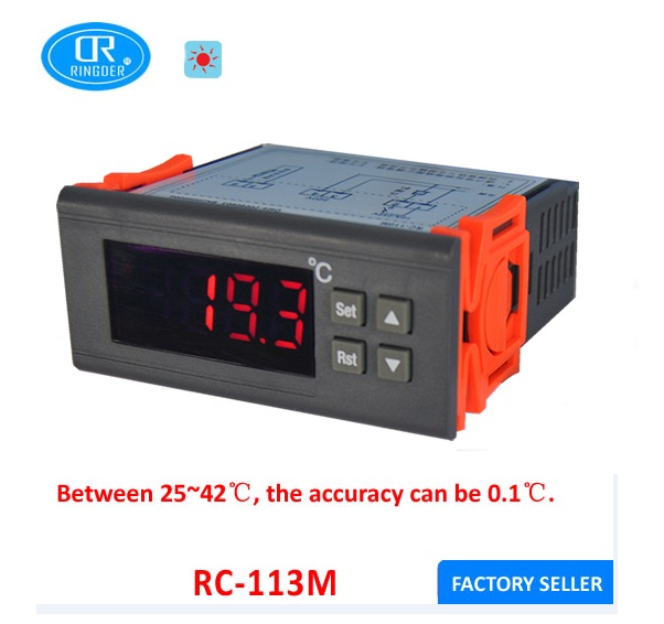RINGDER RC-113M High Accuracy Incubator Thermostat in Temperature Instrument Accuracy 0.1C