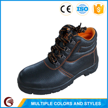 Cow split leather anti-smashing steel toe cap safety shoes