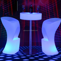 Party high top illuminated led light bar table for hotel/pub/bar/party/wedding