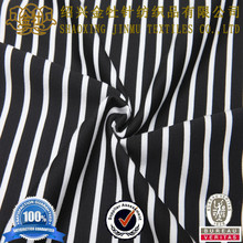 2014 hot selling cotton stripe fabric black and white