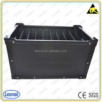 Black esd corrugated plastic box for components