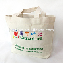 Big Capacity Eco-Friendly New Standard Size Promotion Shopping Tote Canvas Cotton Bag