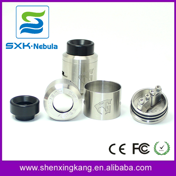 Alibaba SXK 1:1 clone 528 Goon v1.5 rda atomizer expromizer vaporizer with bf pin for vape & electronic cigarette