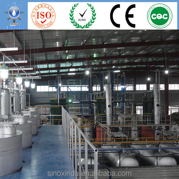 advanced continuous lube oil plant design with small scale equipment for sale