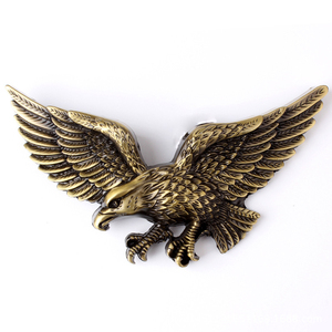Custom eagle shaped 3D metal badges with zinc alloy material