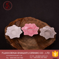 2016 Lotus Flower Shape Tealight Candle Holder Ceramic Candlestick