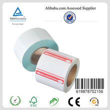 2014 High quality adhesive barcode label for zebra, CAS with cheap price