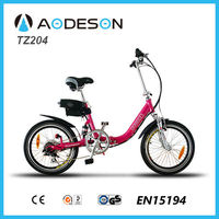 Shock price and good quality kids folding electric bike/bicycle, mini foldable ebike TZ204 with lithium battery
