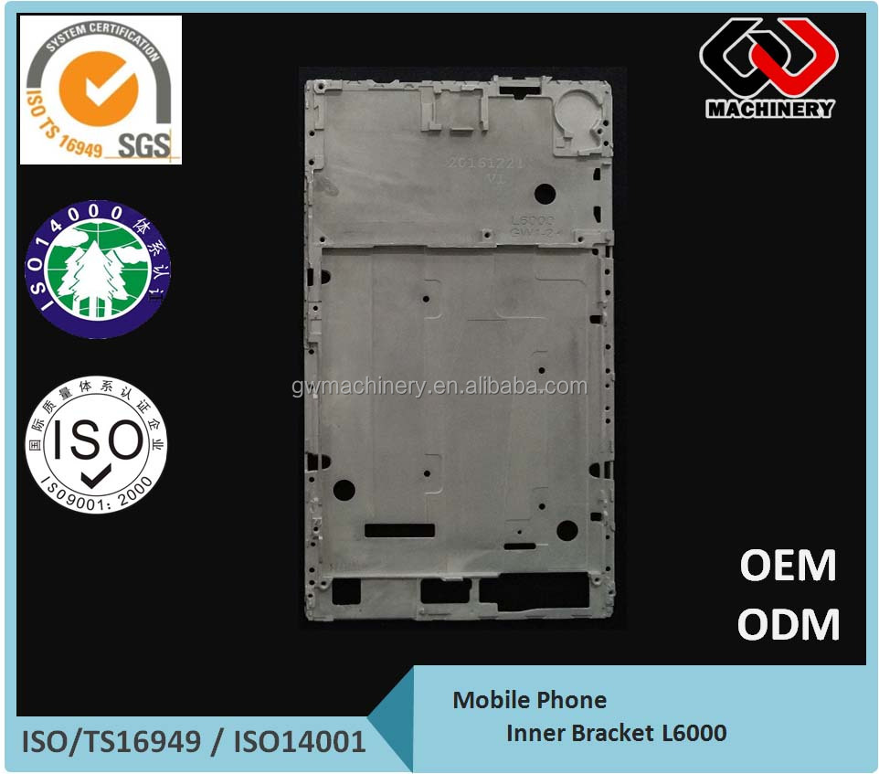 OEM Magnesium die casting parts mid Bezel frame for cell phone/Lap Top/Pad LCD Hi-Quality CNC Machining turning parts
