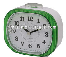 2017 New classic ABS /plastic Green Bell Table alarm clock with Oval shape