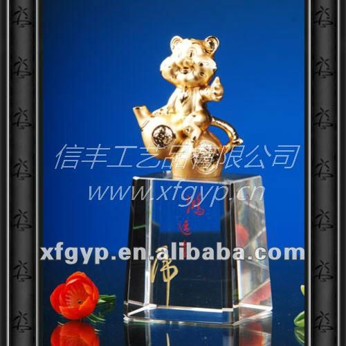 Tiger Statue With Logo Best Souvenirs For Guest
