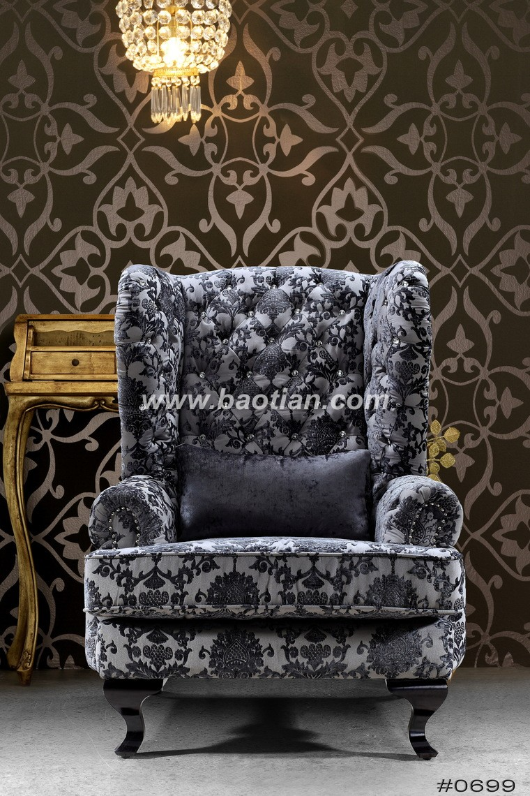 High back living room chair with nice crystal tufting - High back living room chairs suppliers ...