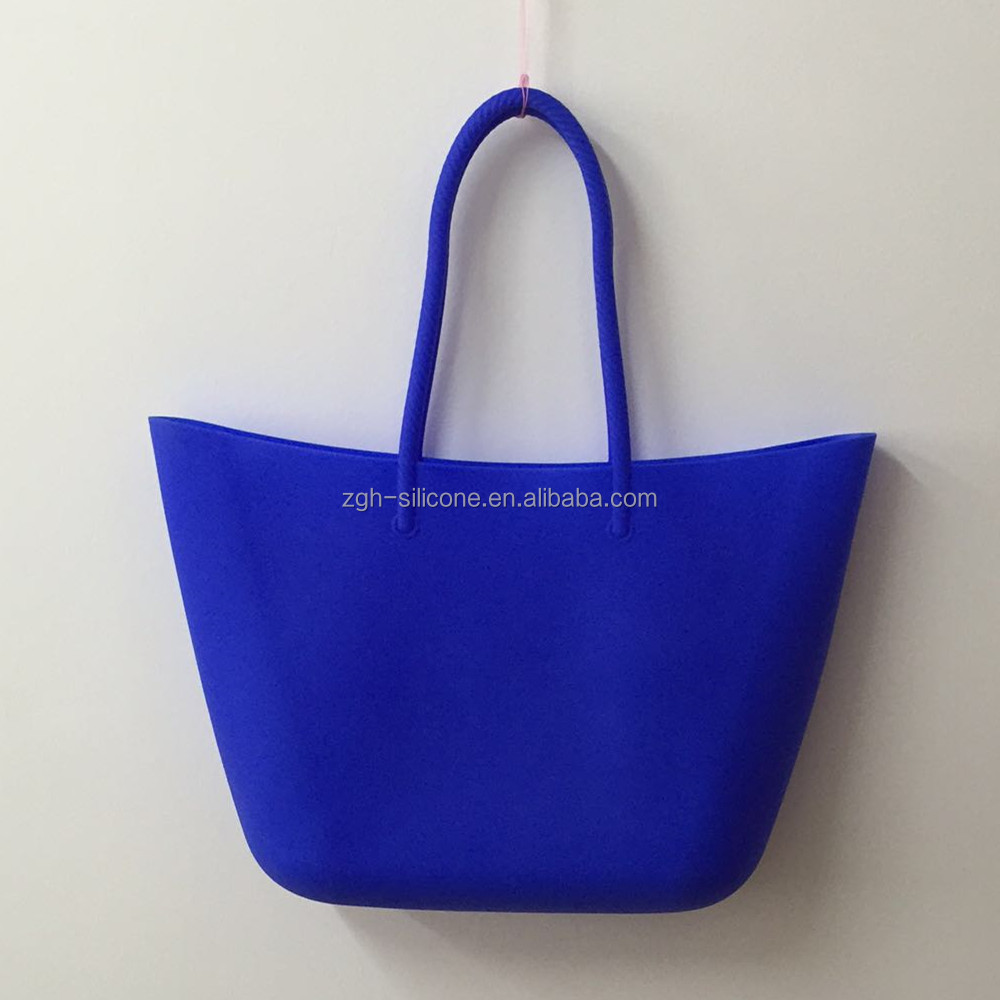 Newest Colorful Design Your Own Silicone Gift Bag Rubber Shoulder Handbag
