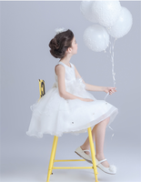 Brand cute girl white cheap wedding dresses online princess dresses goods for children clothes