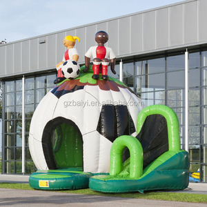 High quality football inflatable kids castle,inflatable slide bouncer wholesale