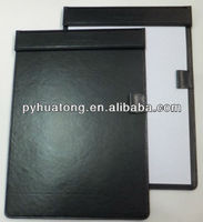 a4 pu leather folding magnetic clipboard