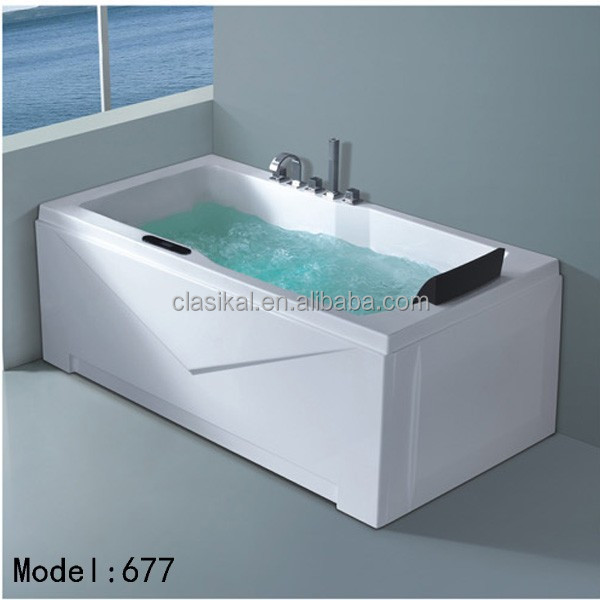Clasikal bathroom rectangle shape cheap freestanding for Cheap free standing tubs
