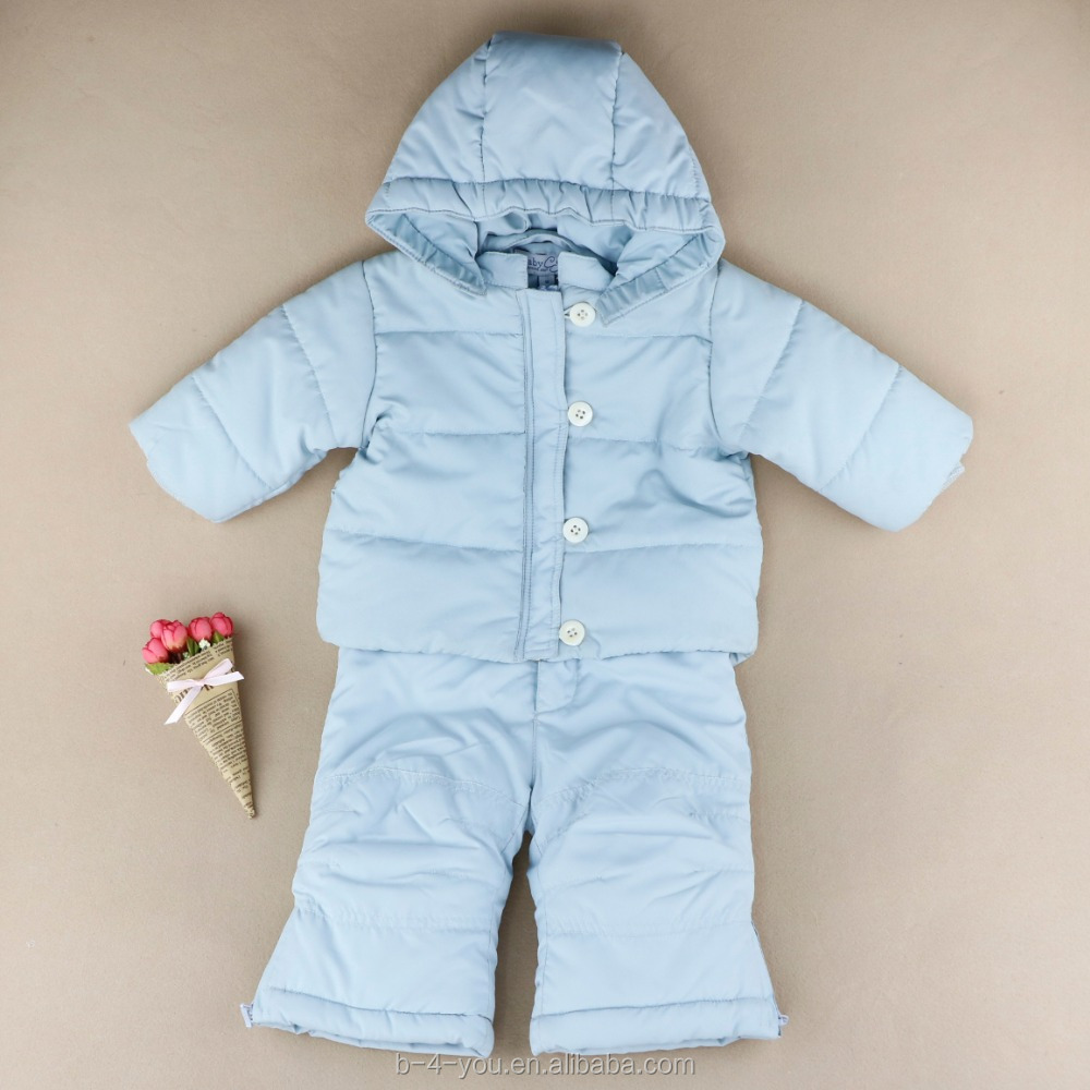 Baby Girl Snowsuit Zipped Hooded Jacket Pans Lightweight Warm Set Pony Down Jacket Set