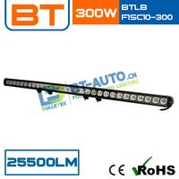 CE+RoHs High Quality 9-70V 300W 25500LM Cree Single row 50 led light bars