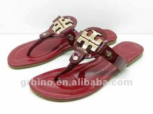 2013 newest lady flip flop sandal leather slipper