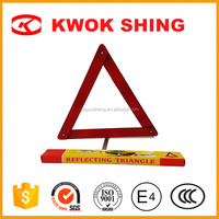 Homologado red reflective car warning triangle