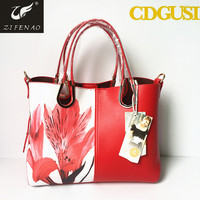 PU leather ladies custom bags handbag manufacturer wholesale China