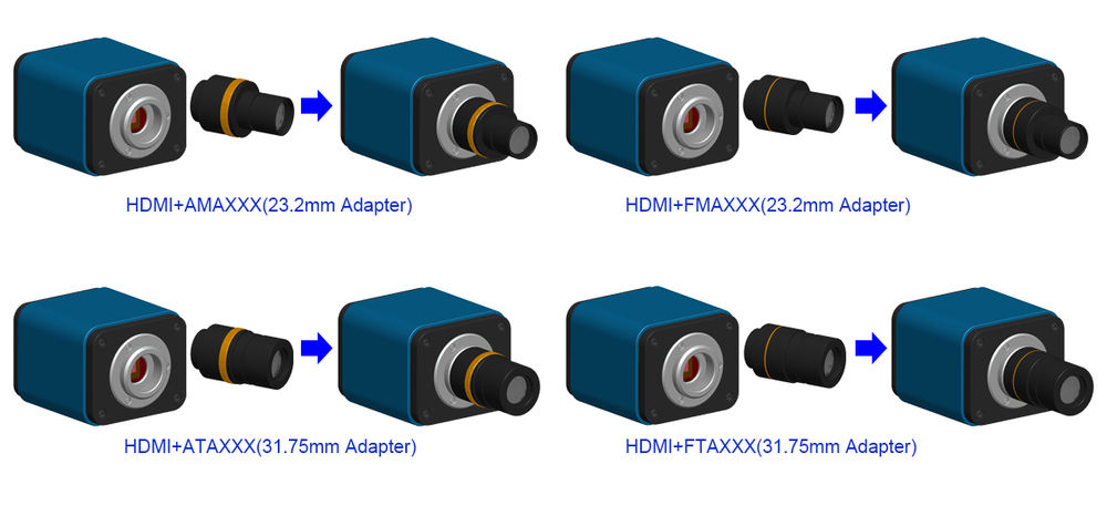 720p HDMI microscope camera with SD slot