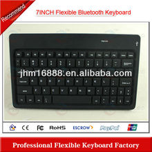 7 Inch flexible bluetooth wireless keyboard case for new ipad