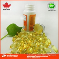OEM omega 3 DHA EPA fish oil soft gel capsule