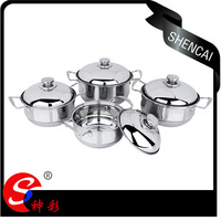 4pcs High Quality Stainless Steel Cookware/Casserole/Soup Pot
