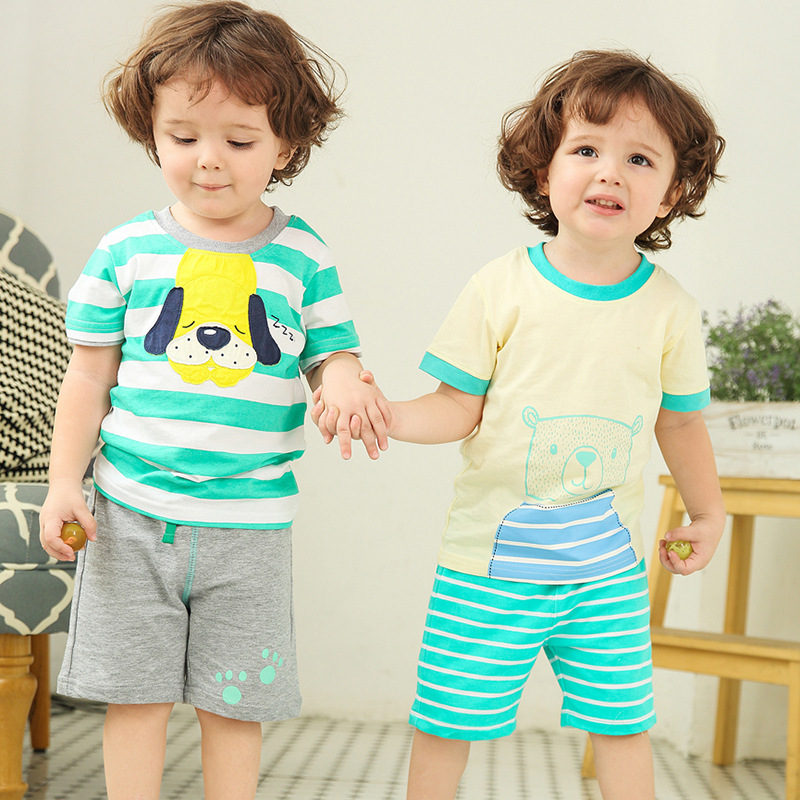 2017 summer boy clothing sets plaid shirt +pants new pattern boy clothes short sleeve shirts and shorts boy party clothes