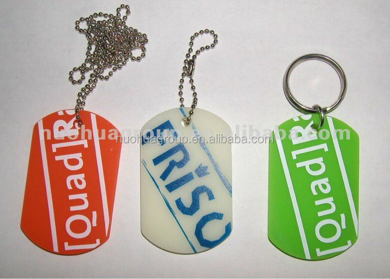 Aluminum cheap dog tags silicone dog tag for necklace