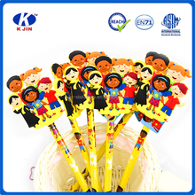 Hot sale flexible figures eraser pencil for students OEM manufacture school supplies