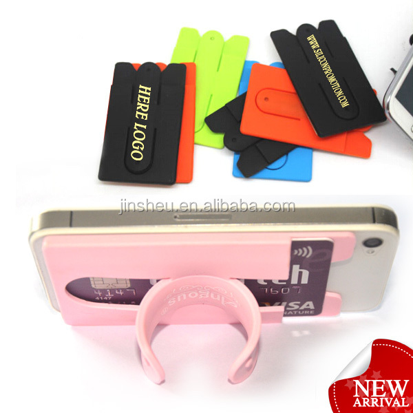 custom multiple mobile phone adhesive logo printed card holder