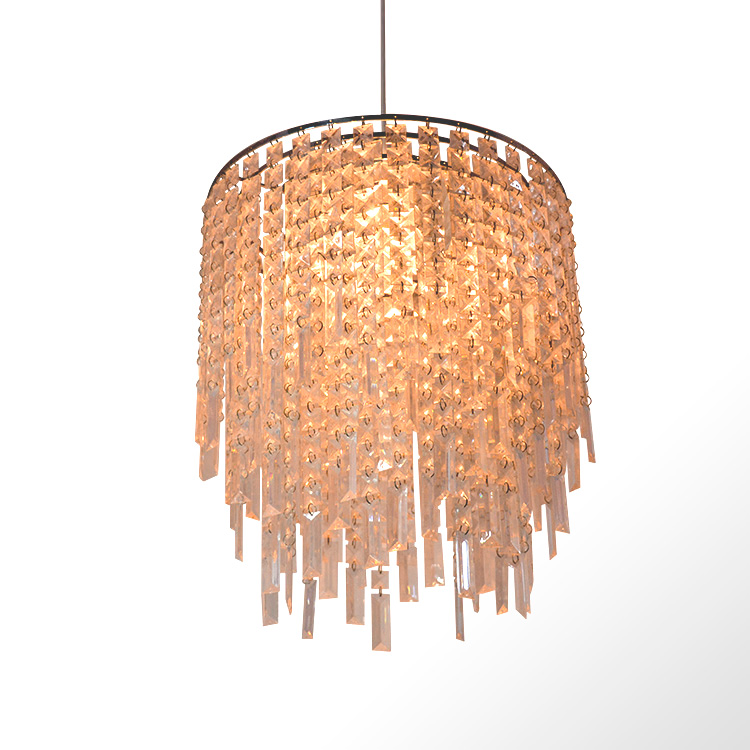 Modern acrylic crystal lamp shade living room led decorative pendant light