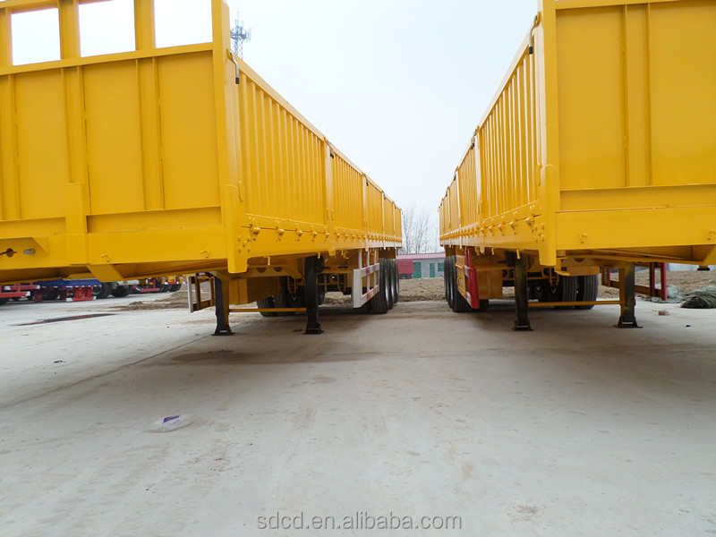 Low price Side Wall box trailer/side wall trailer transport cargo for sale