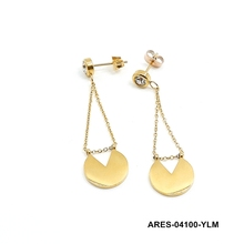 Stainless steel jewerly women fashion 2 gram gold beautiful designed earrings